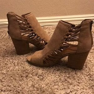 Rampage open toe booties size 9